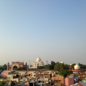 Agra Taj Mahal Rooftop View