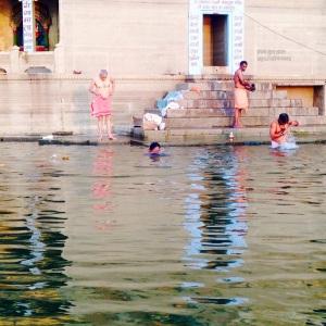 Varanasi Bathing in River Ganges