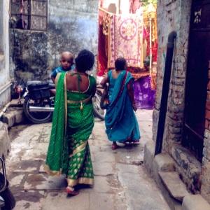 Varanasi Mother and Baby