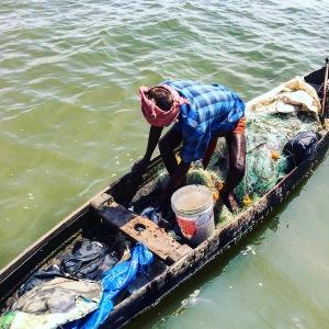 Kerala Backwater Local Fisherman