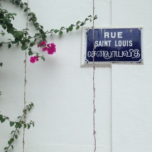 Pondicherry Street Sign