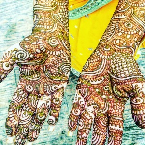Indian wedding bridal henna