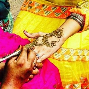 Indian wedding Mehendi henna