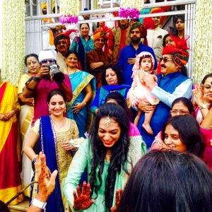 Indian wedding Gurudwara baraat procession