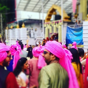 Indian wedding Gurudwara baraat procession