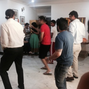 Indian wedding dance practice