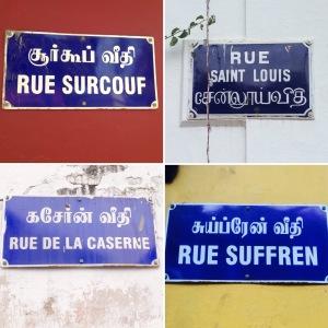 Pondicherry Road Signs