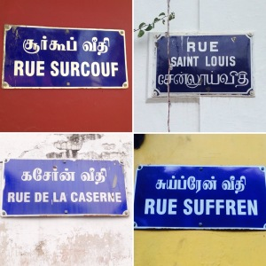 Pondicherry Road Signs