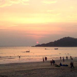 Palolem Beach Goa Sunset