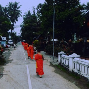 Luang Prabang Buddhist Monks Morning Alms