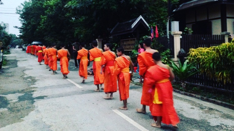 Luang Prabang Buddhist Monks Morning Alms