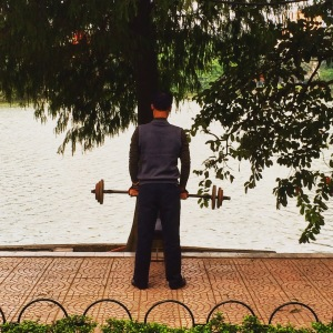 Hanoi Street Weightlifting