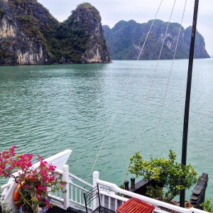 Halong Bay Boat Deck View