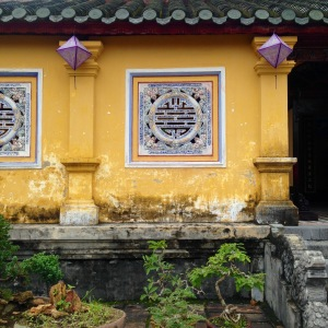 Hue Imperial City Coloured Buildings